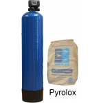 Iron and manganese remover equipment with Pyrolox media